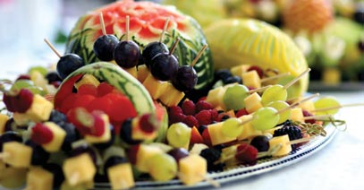 Fruit Arrangement Catering in Michigan by Golden Glow